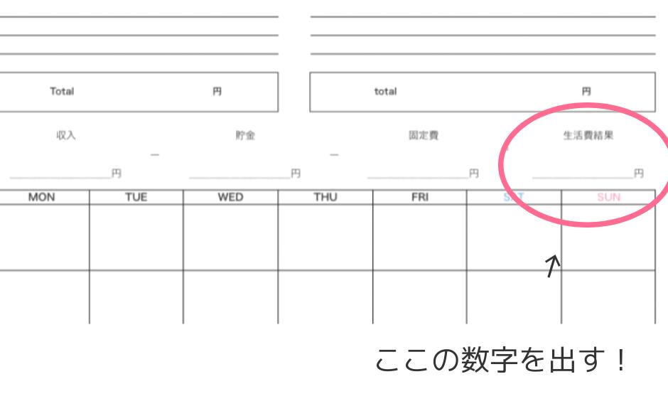 家計簿フォーマット